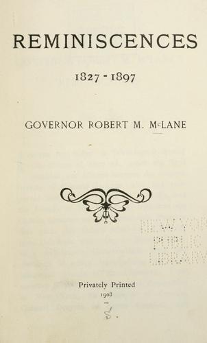 Reminiscences, 1827-1897