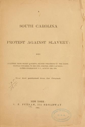 Download A South Carolina protest against slavery
