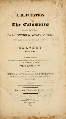Download A refutation of the calumnies circulated against the southern & western states