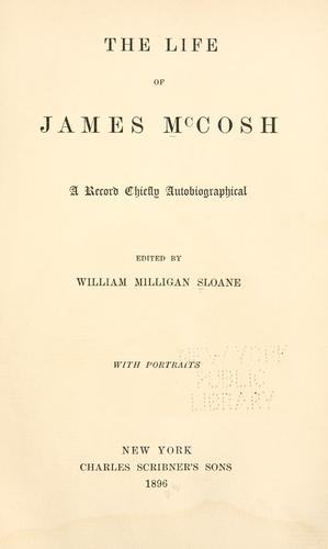 The life of James McCosh