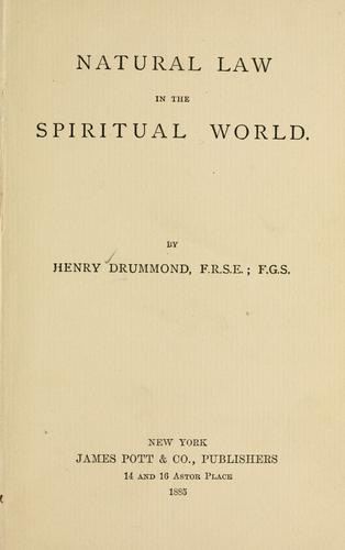 Download Natural law in the spiritual world.