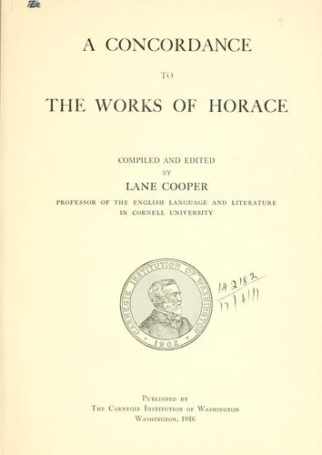Download A concordance to the works of Horace