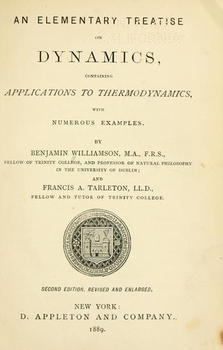 Download An elementary treatise on dynamics