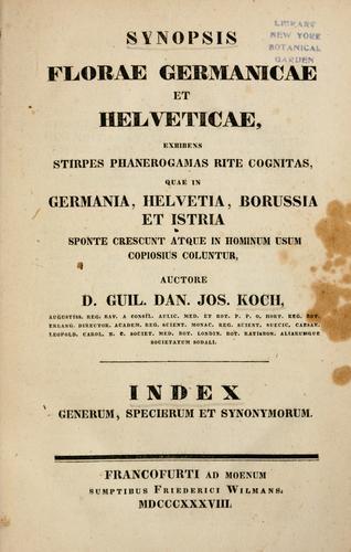 Download Synopsis florae Germanicae et Helveticae