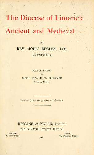Download The diocese of Limerick, ancient and medieval