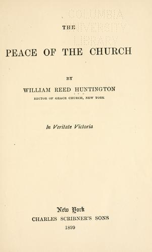 The peace of the church.