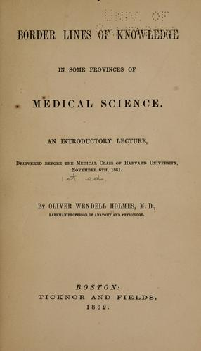 Download Border lines of knowledge in some provinces of medical science