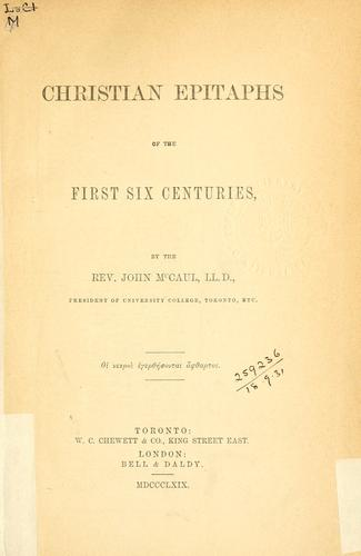 Download Christian epitaphs of the first six centuries