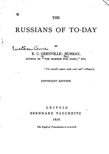 Russians of to-day.
