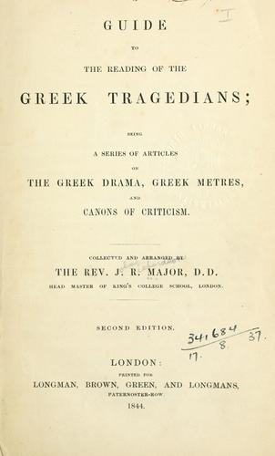 Download A guide to the reading of the Greek tragedians