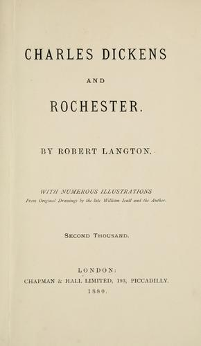 Charles Dickens and Rochester