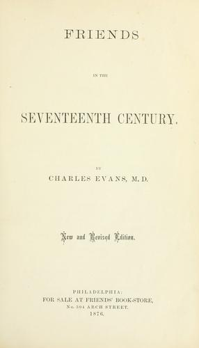 Download Friends in the seventeenth century.