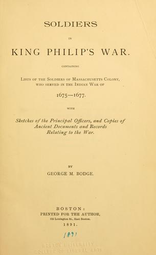 Soldiers in King Philip's war.