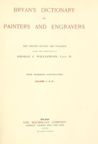 Bryan's dictionary of painters and engravers.