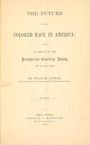 Download The future of the colored race in America