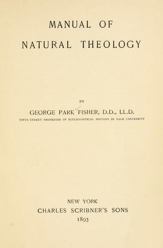 Manual of natural theology.