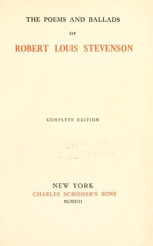 The  poems and ballads of Robert Louis Stevenson.