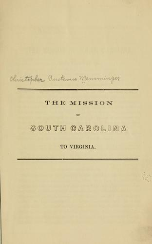 Download The mission of South Carolina to Virginia.
