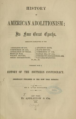 Download History of American abolitionism