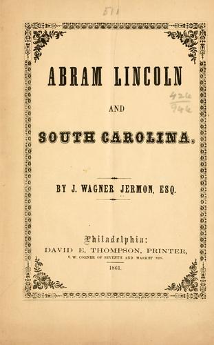 Download Abram Lincoln and South Carolina