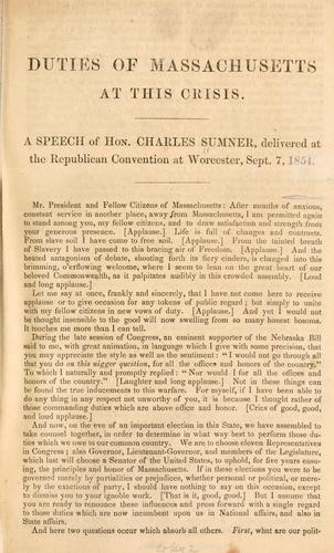 Duties of Massachusetts at this crisis.
