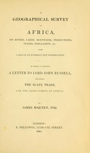 Download A geographical survey of Africa