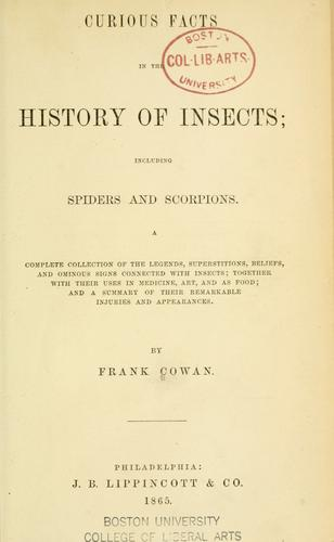 Curious facts in the history of insects