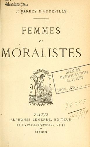 Download Femmes et moralistes