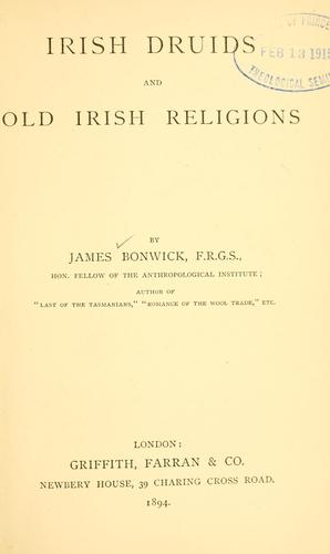 Irish druids and old Irish religions.