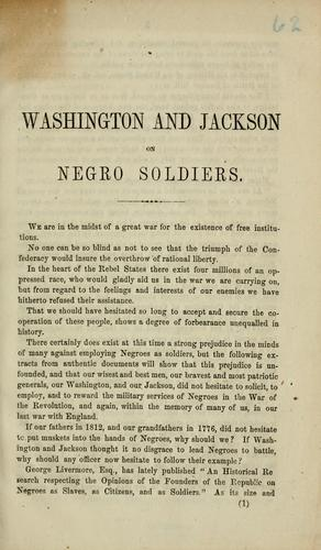 Download General Washington and General Jackson, on negro soldiers.