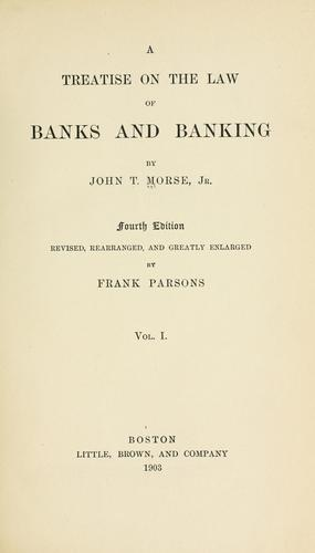 Download A treatise on the law of banks and banking