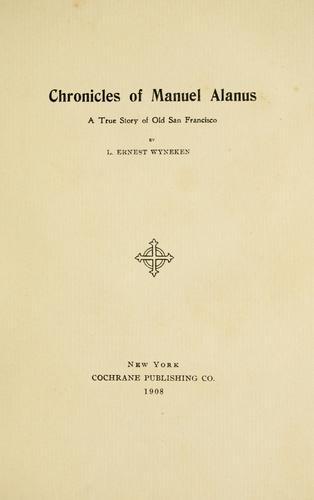 Chronicles of Manuel Alanus