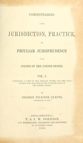 Download Commentaries on the jurisdiction of the courts of the United States.