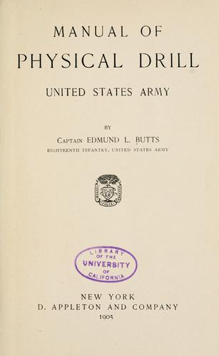 Download Manual of physical drill, United States Army