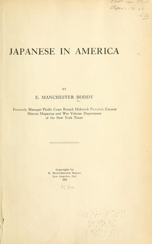 Download Japanese in America