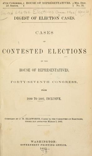 Digest of election cases