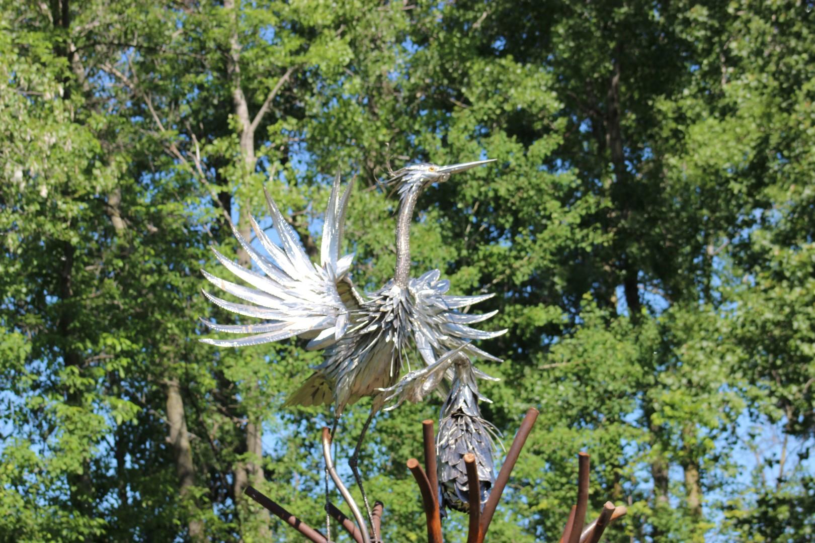 Great Blue Heron sculpture at Montezuma (photo)