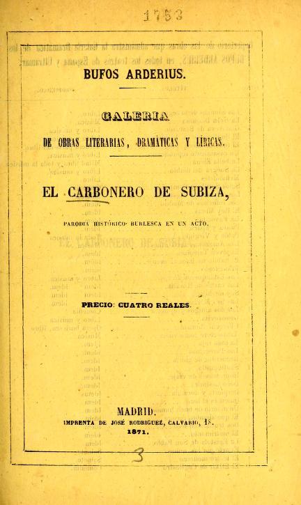 El carbonero de Subiza by Rafael Aceves y Lozano