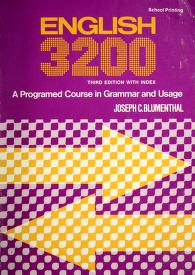 Cover of: English 3200 | Joseph C. Blumenthal