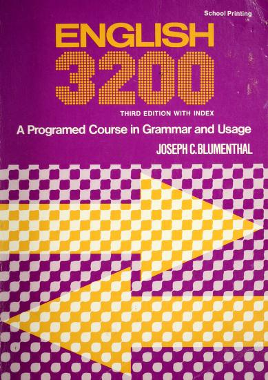 English 3200 by Joseph C. Blumenthal