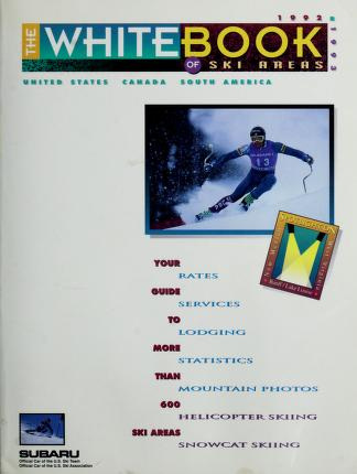 Cover of: The White Book of Ski Areas   Robert G. Enzel