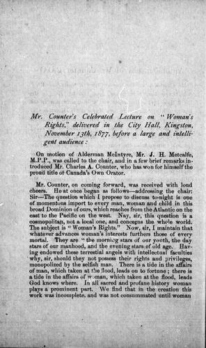 Woman's rights by Charles A. Counter