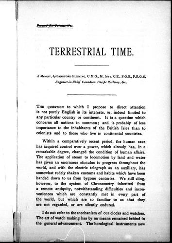 Terrestrial time by Fleming, Sandford Sir