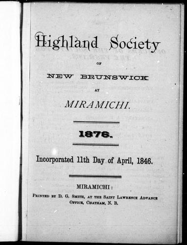 Highland Society of New Brunswick at Miramichi by Highland Society of New Brunswick at Miramichi.