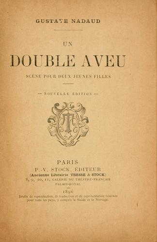 Un double aveu by Gustave Nadaud