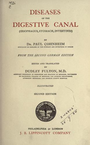 Diseases of the digestive canal by Paul Cohnheim