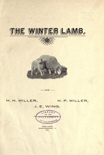 The winter lamb by H. H. Miller