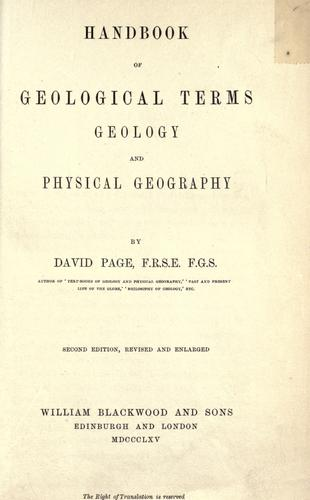 Handbook of geological terms, geology and physical geography