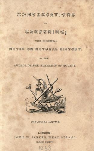Conversations on gardening by Asa Gray