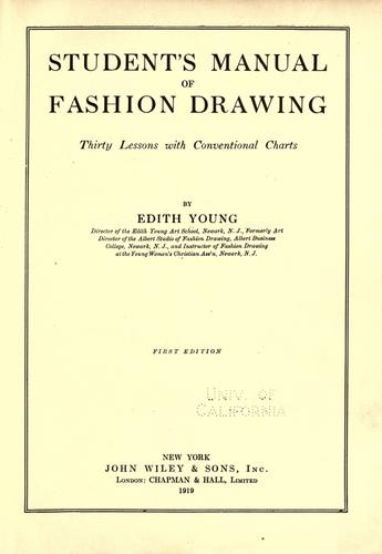 Student's manual of fashion drawing by Edith Young